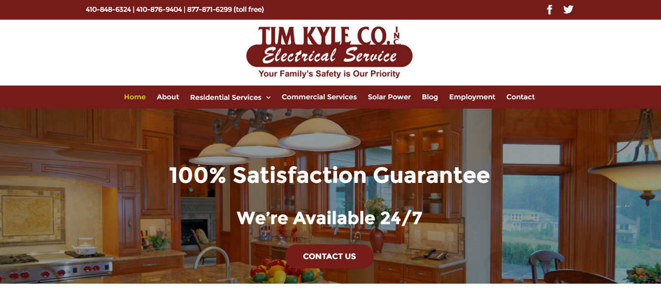 Tim Kyle Website Redesign - Eyler Creative