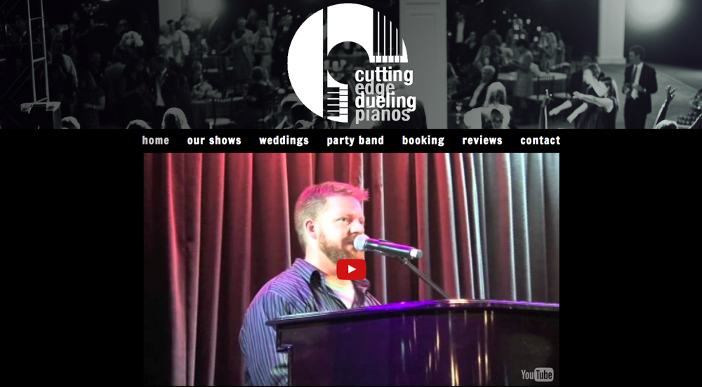 Cutting Edge Dueling Pianos Website Redesign - Eyler Creative