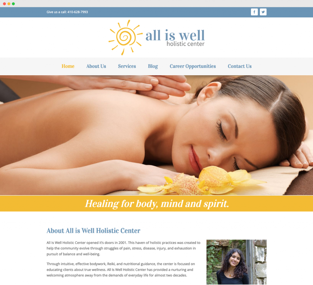 All is Well Holistic Center | Eyler Creative